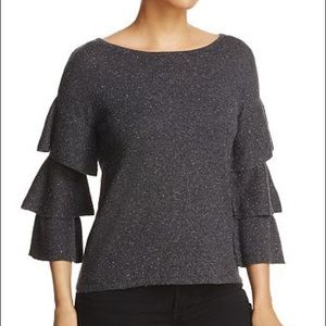 Design History Amazing Tiered Sleeve Sweater
